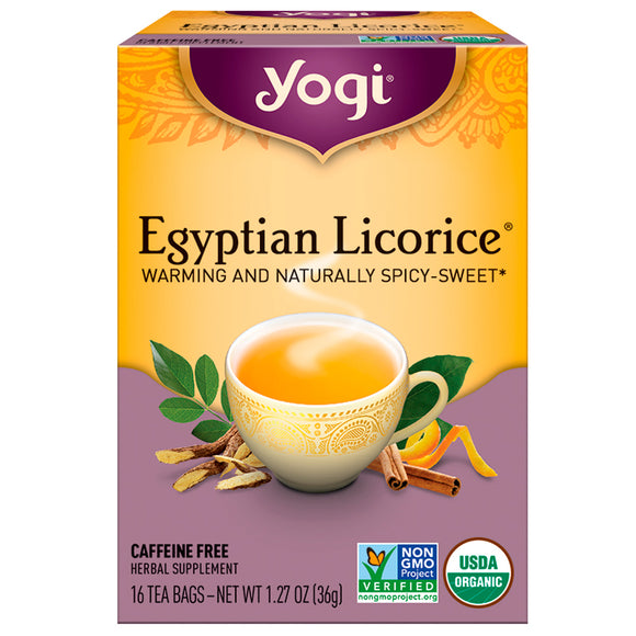 Yogi Tea Company, Egyptian Licorice Tea, 16 Tea Bags - 076950415164 | Hilife Vitamins