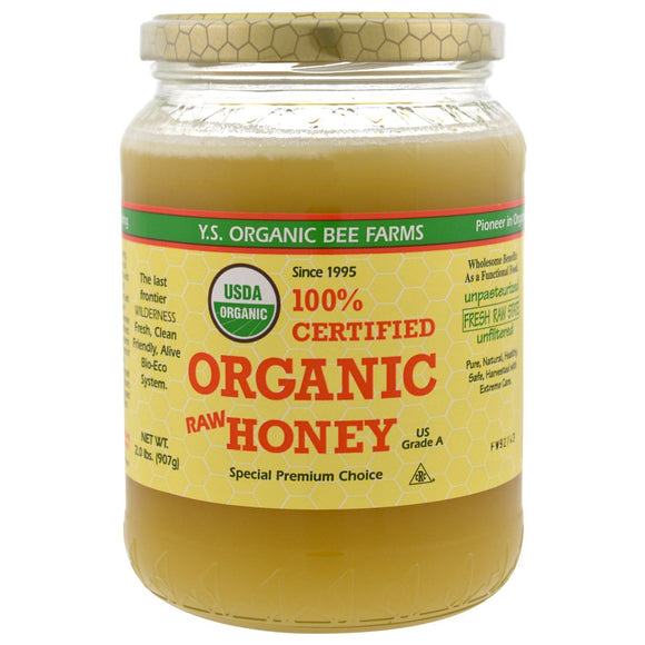 Ys Bee Farm, Organic Raw Clover Honey, 2 Lb - 726635121285 | Hilife Vitamins
