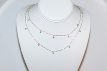 Load image into Gallery viewer, Petite Paperclip Chain with Semi-Precious Stones