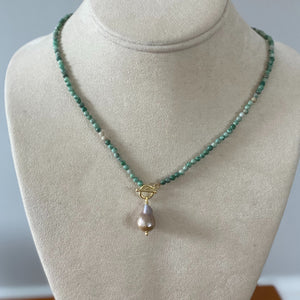 Pearl Drop Toggle Necklace