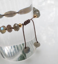 Load image into Gallery viewer, Labradorite Adjustable Bracelet