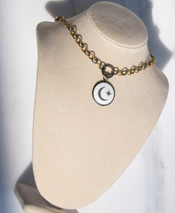 Moon Pendant Necklace