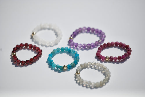 Semi-Precious Stretch Rings