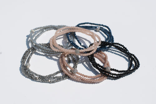 Crystal Triple Wrap Bracelet