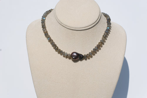 Semi-Precious Pearl Necklace
