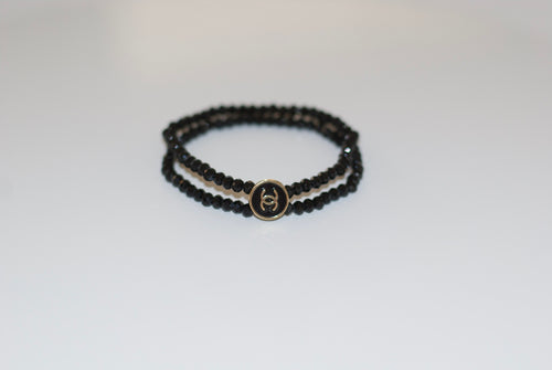Mini cc button bracelet