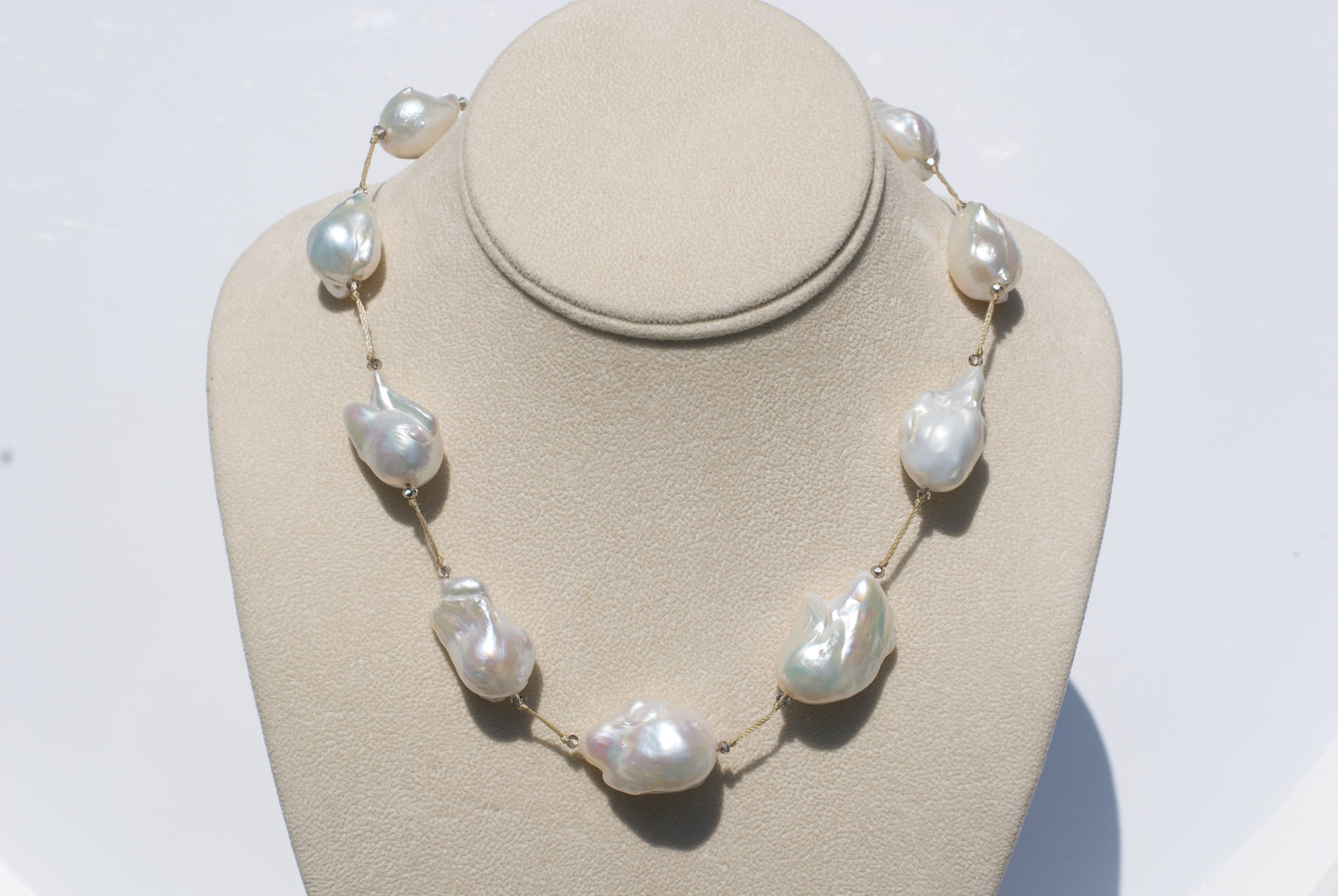 Hand Knotted Baroque Pearl Necklace