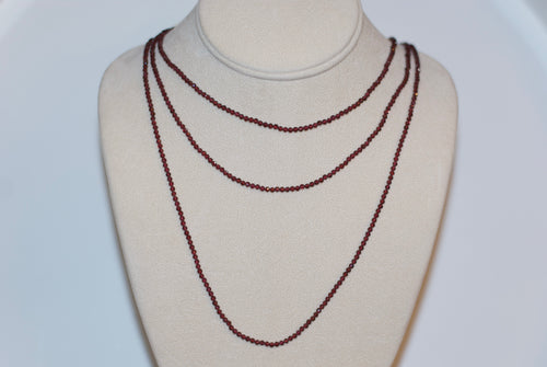 Semi-Precious Eternity Strand Necklace