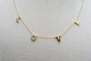 All you need is ... LOVE necklace