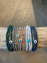 Load image into Gallery viewer, Evil Eye Crystal Triple Wrap Bracelet