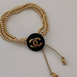 CC Quilted button bracelet