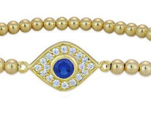 Load image into Gallery viewer, Oval Evil Eye Bracelet
