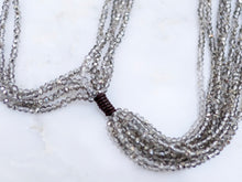Load image into Gallery viewer, Crystal Tassel Necklace