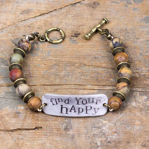 Find Your Happy - Dark Beads Bracelet