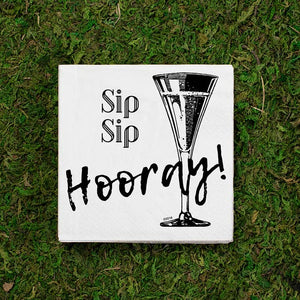 Twisted Wares- Sip Sip Hooray - Cocktail Napkins