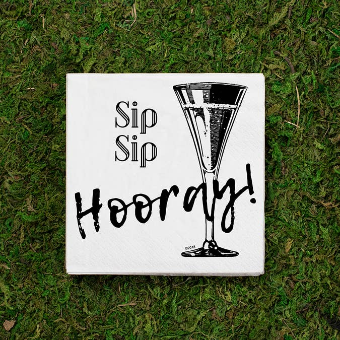 Cocktail Napkins - Sip Sip Hooray