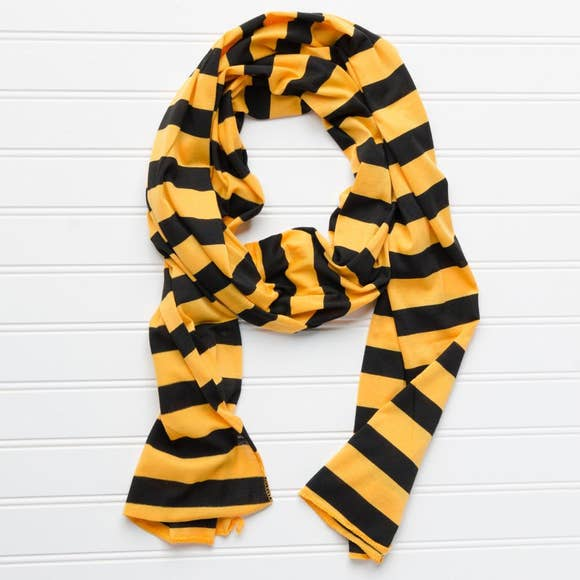 Jersey Striped Scarf - Black/Gold