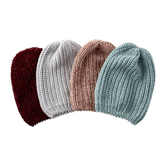 Zoey Chenille Beanie - Mixed