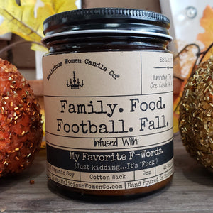 "Family. Food. Football. Fall. - Infused With ""Favorite F-Words"""