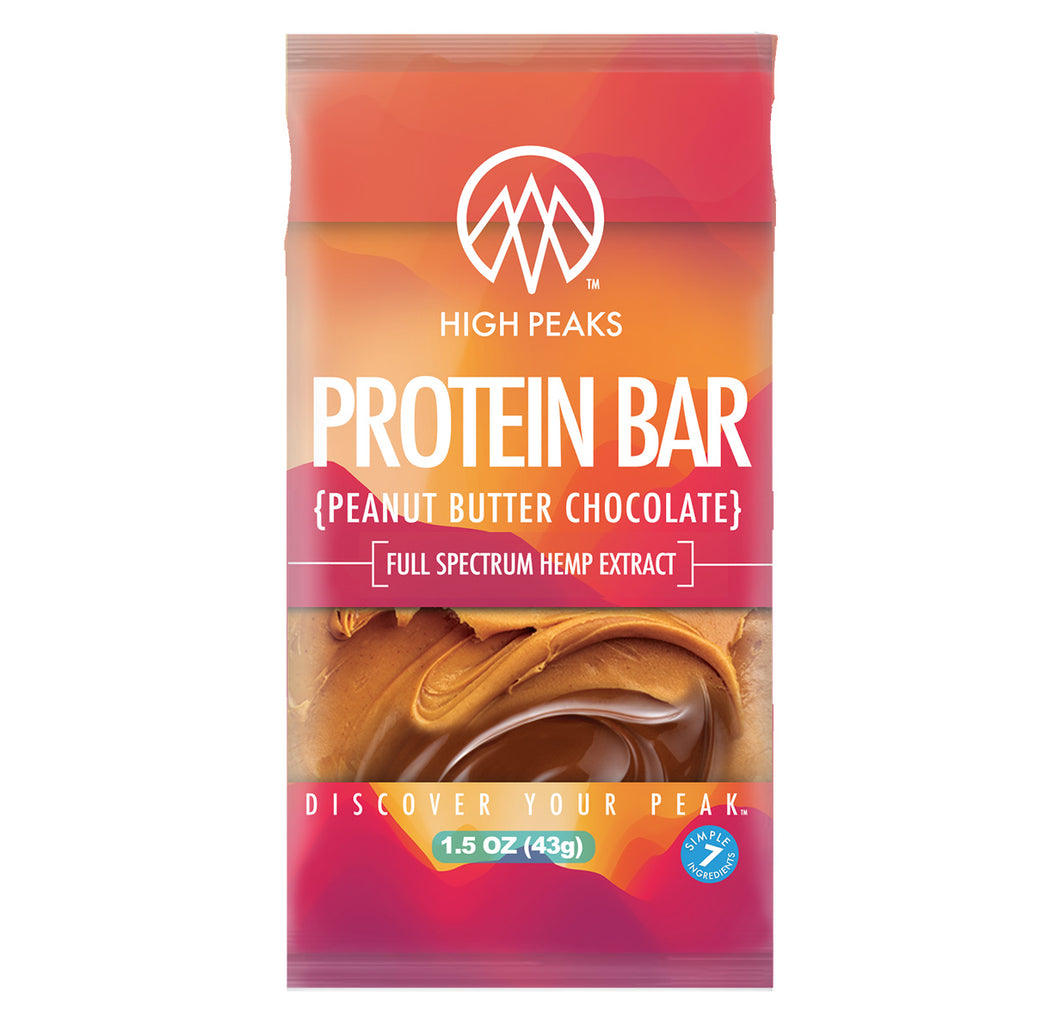 High Peaks Peanut Butter Chocolate Protein Bar