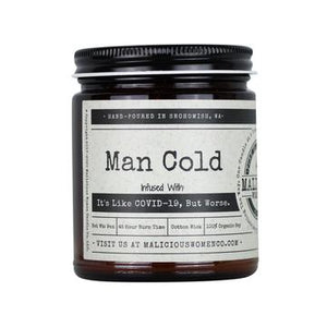 "Man Cold - Infused with ""It's Like Covid-19, But Worse."" Scent: Take A Hike (Fig, Cedar & Moss)"