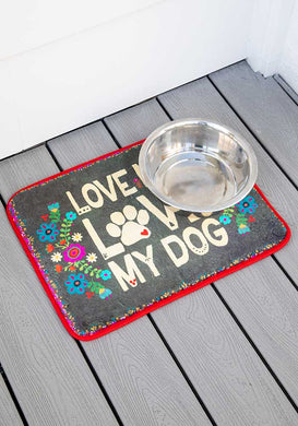 Love Me Love My Dog Drying Mat