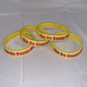 The Be Happy Brand Silicone Bracelet