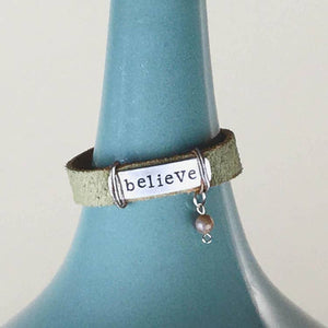Believe Bracelet with Bead