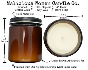 Coronavirus Prevention Checklist Candle Infused With: Nothing New, Morons