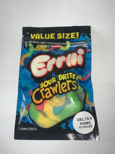 SOUR CRAWLERS 500MG DELTA 8 GUMMIE WORM