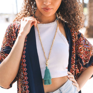 Bohemia Beaded Tassel Necklace