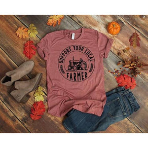Support Your Local Farmer (Tractor) Graphic T-Shirt