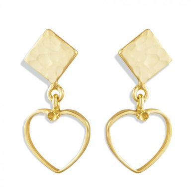 LOVE TRIANGLE DROP EARRINGS