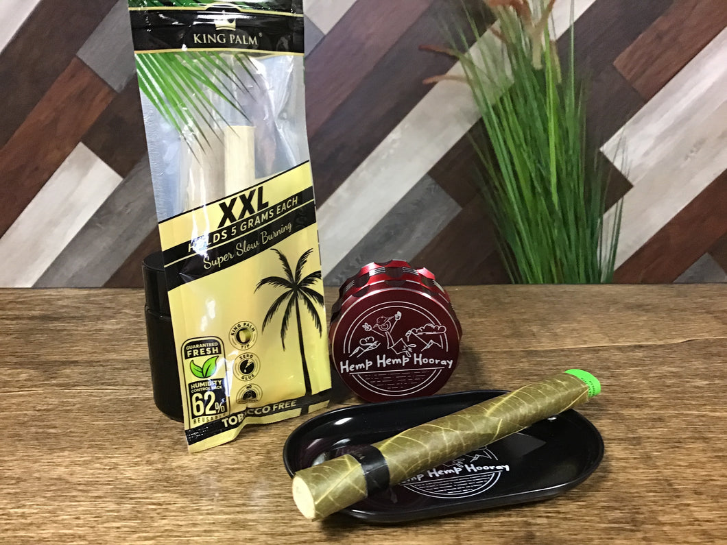 King Palm XXL Hand Rolled Leaf Rolls With Boveda 62% Humidity Packet
