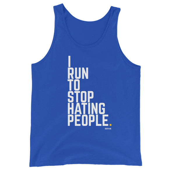 I Run To Stop Hating People - Men's Tank Top (4 Colors Available)