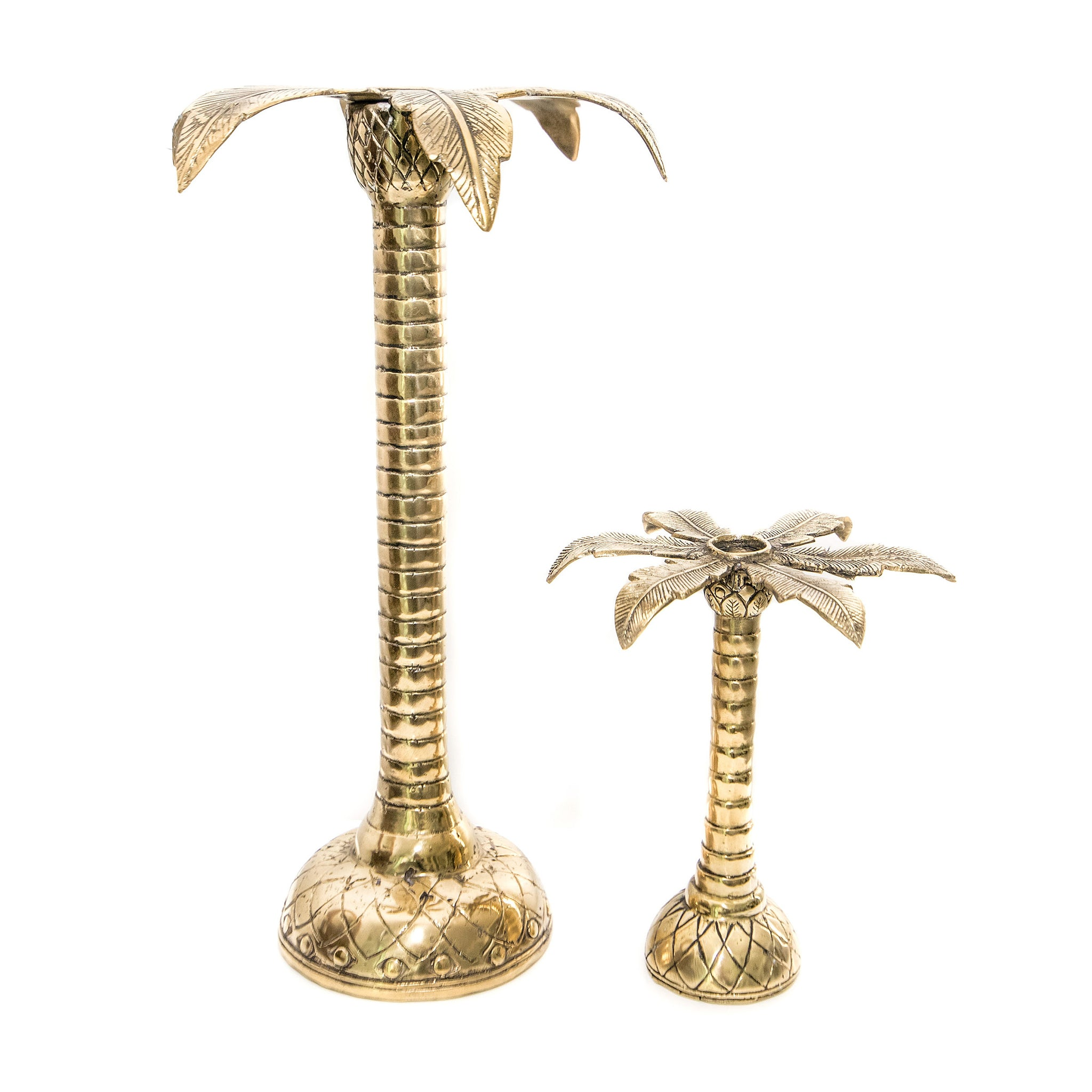 BRASS CANDELESTICK HOLDERS - SILVER OR BRASS