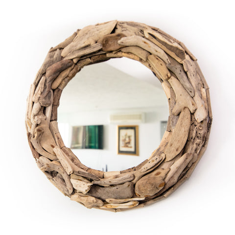 DRIFTWOOD COASTAL VIBES MIRROR - A STUNNING HANDCRAFTED PIECE