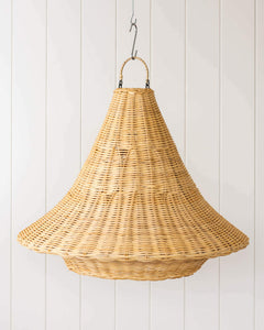 RATTAN LIGHT SHADE- BELL SHAPE