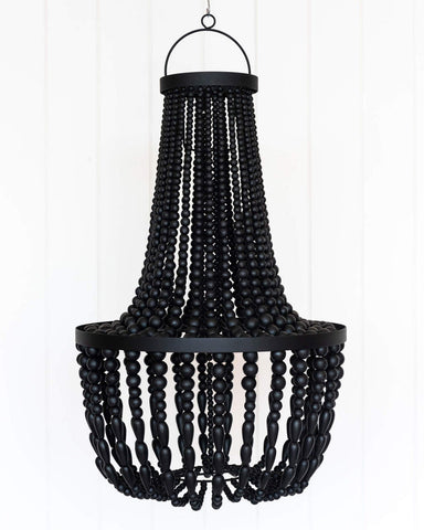 BOHO BEADED CHANDELIER - BLACK ELEGANCE