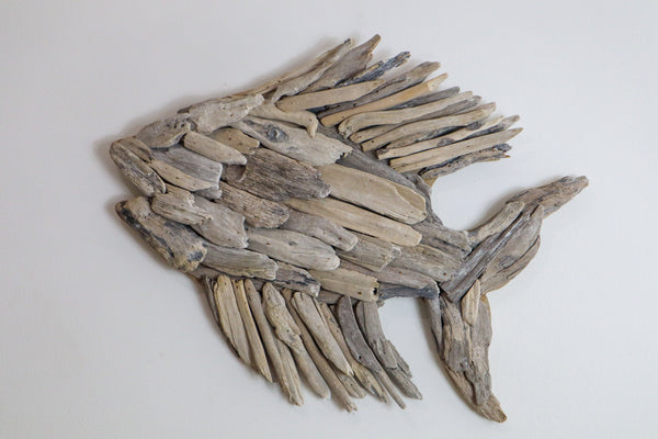 DRIFTWOOD FISH WALL ART- NATURAL OR WHITEWASHED