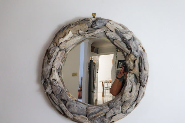 DRIFTWOOD COASTAL  MIRROR - NATURAL OR WHITEWASHED