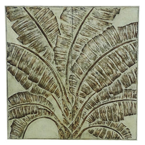 POUNDED METAL ARTESAN  WALL ART -BANANA LEAVES
