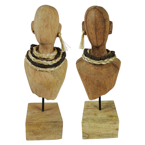 I discovered these amazing hand made tribal torsos in my travels and I just fell in love with them.  They have been meticulously hand crafted out of mango wood.  You can buy just one as a stand alone and it will look fantastic but buying a pair just seems so perfect.