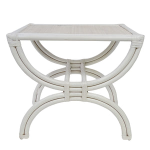 BAMBOO & RATTAN SIDE TABLE- COFFEE BROWN OR WHITE
