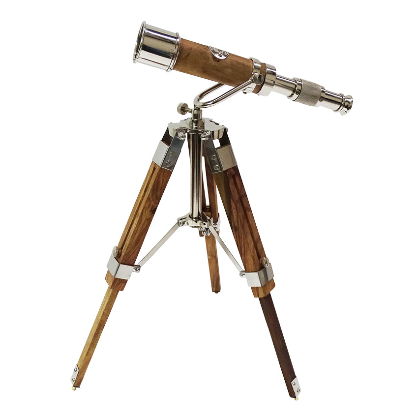 This miniature telescope adds a real nautical look to any table.  Its very high quality and very interesting to have.  Look to the stars!  It also makes a lovely gift.