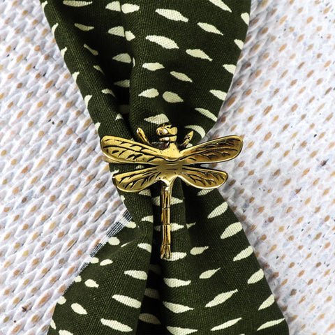 NAPKIN /SERVIETTE RINGS IN BRASS- DRAGONFLY