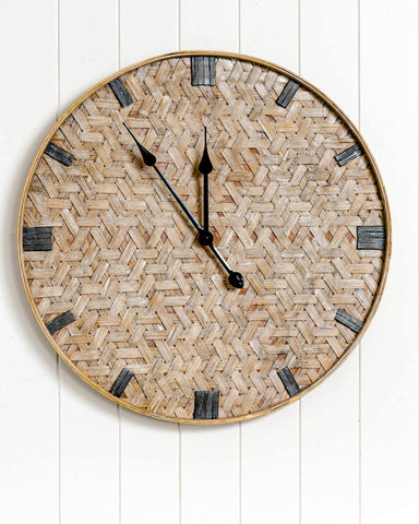 Its practical and it will give your house a tropical feel.  Only one natural rattan clock left.  A great gift.
