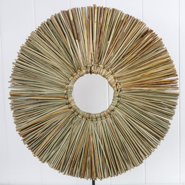 SEAGRASS AND WOOD TABLE ART