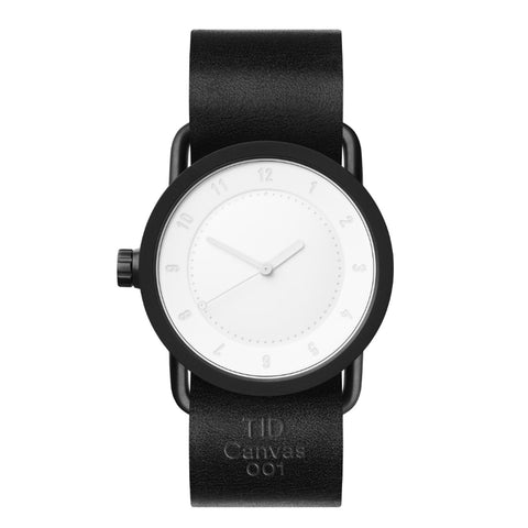 TID Watches TID Watch 36mm Canvas 001 w/ Black Leather Wristband (Limited Edition)