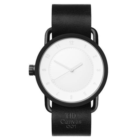 TID Watch 40mm Canvas 001 w/ Black Leather Wristband (Limited Edition)